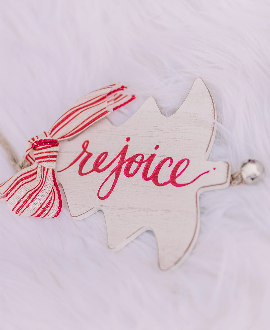 Rejoice Rustic Christmas Tree Ornament (9736942)