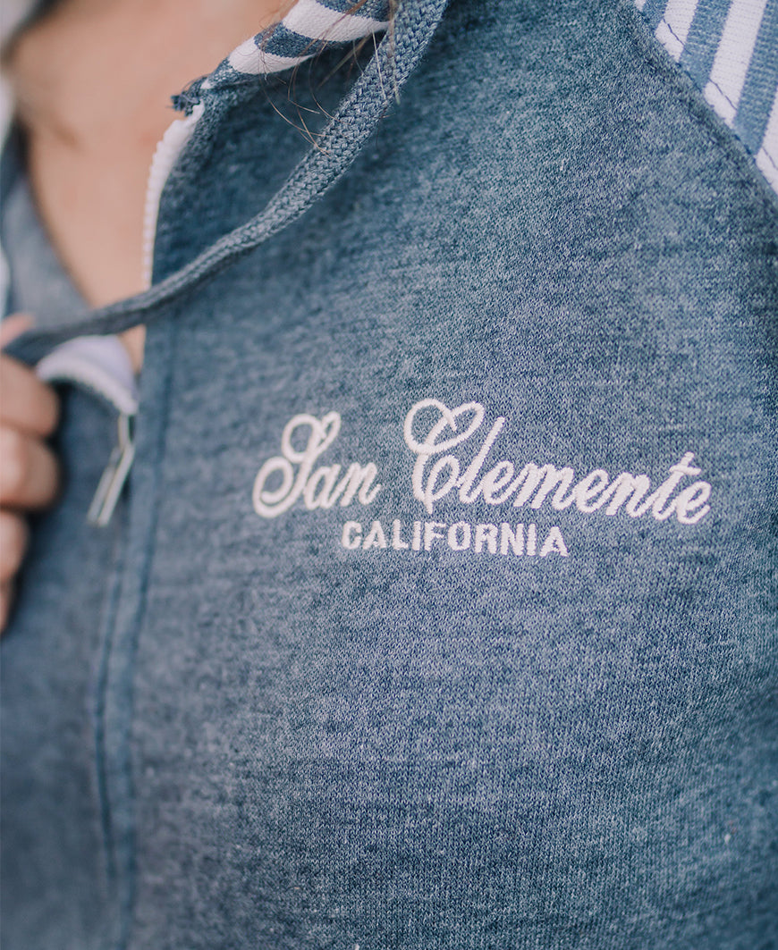 San Clemente Embroidered Zip Up Hoodie (LHZ363)