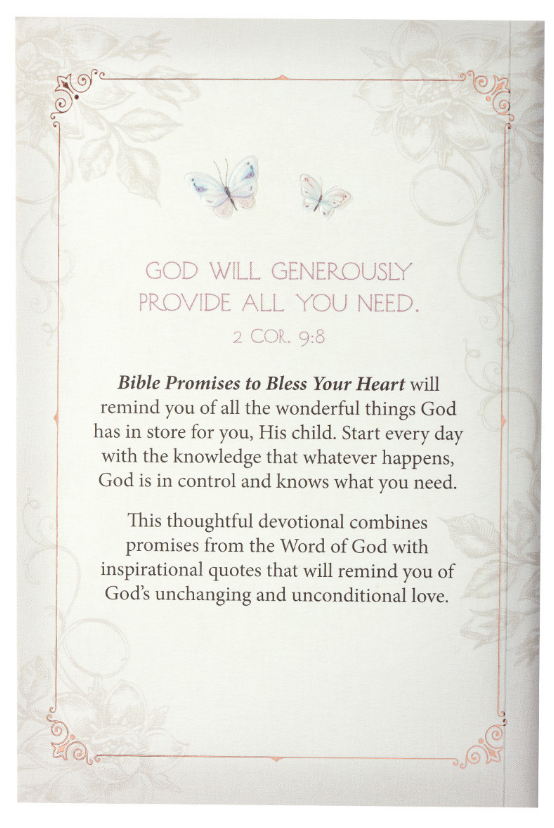 Bible Promises to Bless Your Heart Devotional Book (DL005)