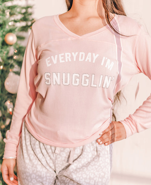 Every Day I'm Snugglin' Pajama Shirt (576924-L396T)
