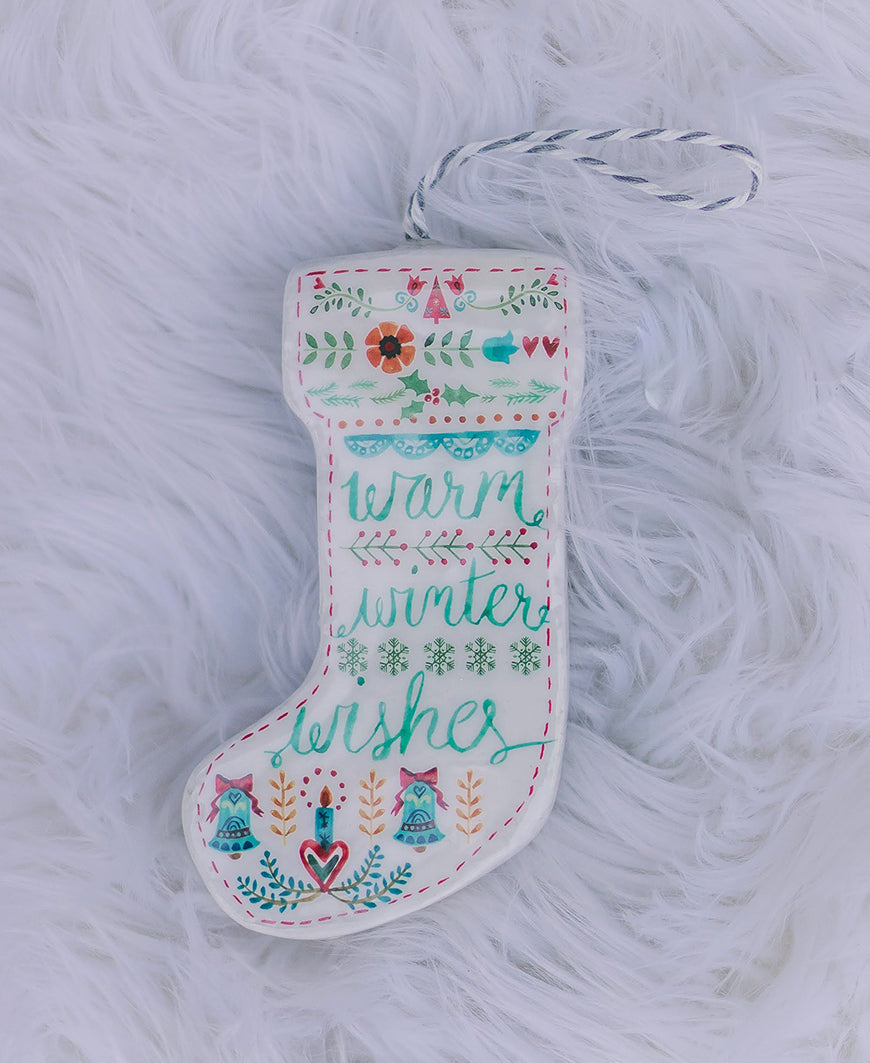 Warm Winter Wishes Stocking Ornament (3919080)