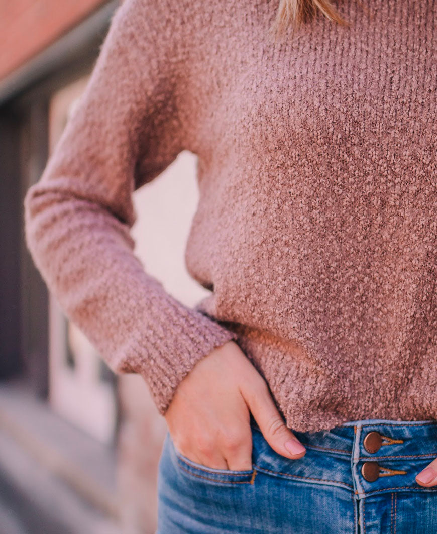 Tan Crop Sweater (SW6675)