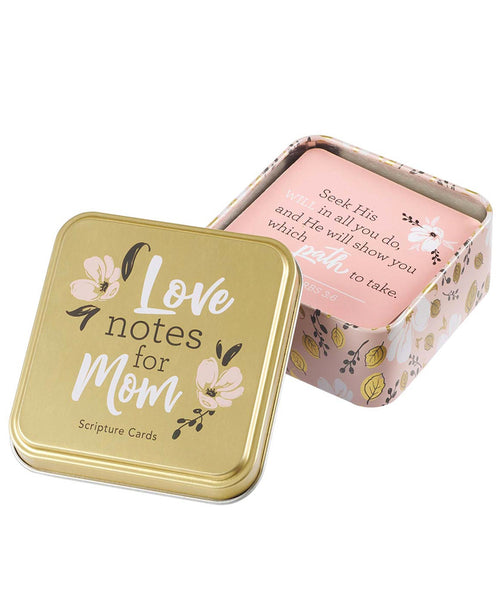 Love Notes for Mom Scripture Cards in a Tin (TIN027)