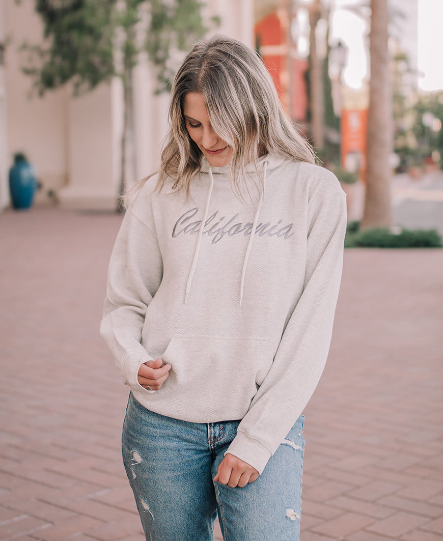 Oatmeal California Embroidered Sweatshirt (998)