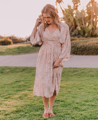 Cream And Navy Striped Maxi Dress