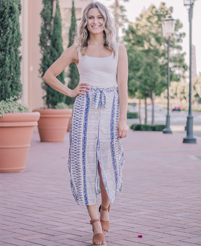 Sage Striped Ruffle Cami (TC2402H)