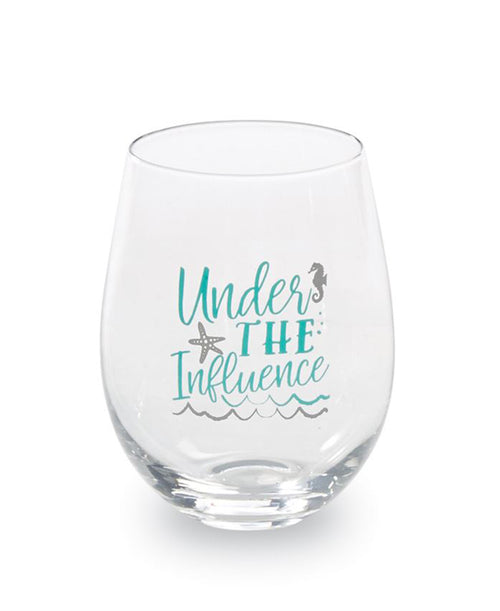 Under The Influence Beach Wine Glass