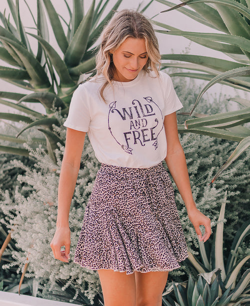 Wild and Free Graphic Tee (T-35814)
