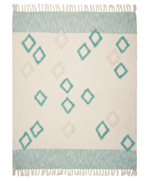 Aqua Diamond Throw Blanket