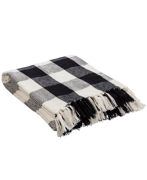 Black and White Buffalo Check Throw Blanket (108747)