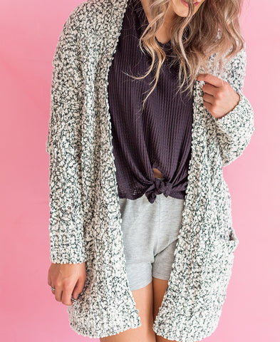 Dark Blush Oversized Sweatshirt Cardigan