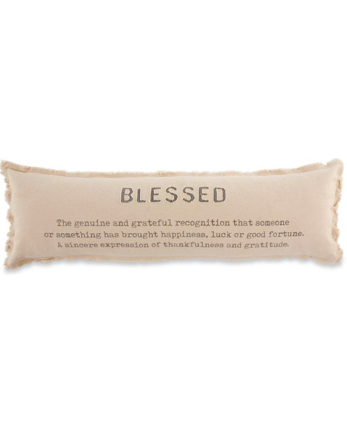 Blessed Long Pillow (CURBSIDE PICK UP)