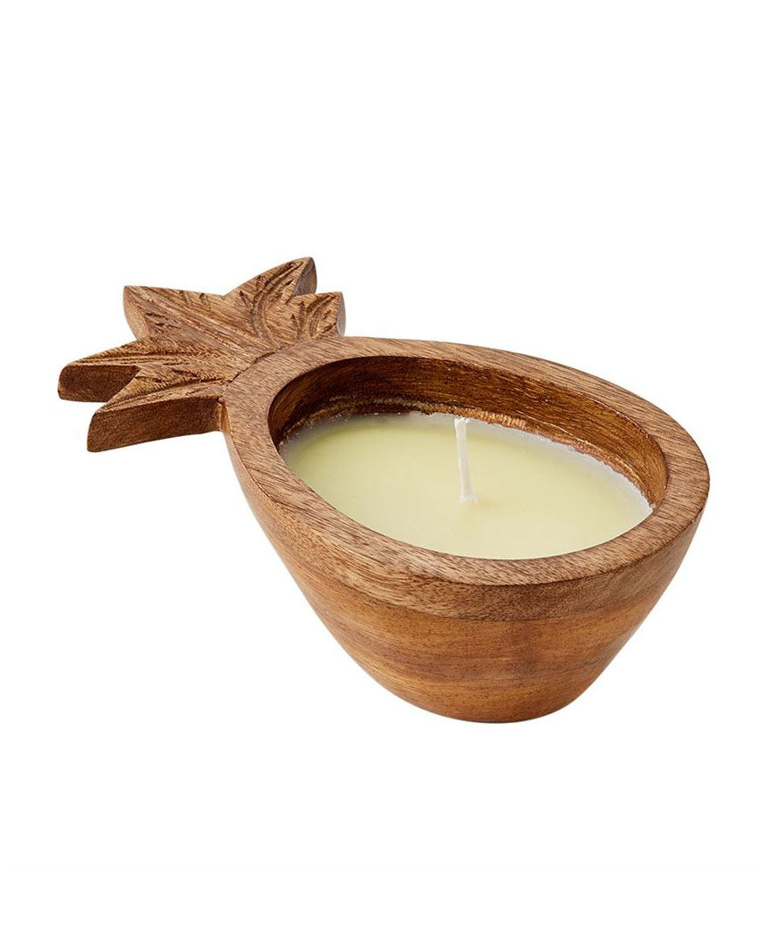 Brown Pineapple Wood Candle