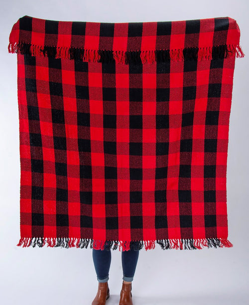 Red Buffalo Check Throw Blanket (107262)