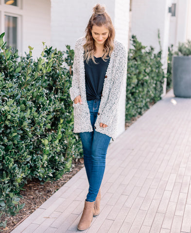 Ivory Soft Open Pocket Cardigan (HR3272)