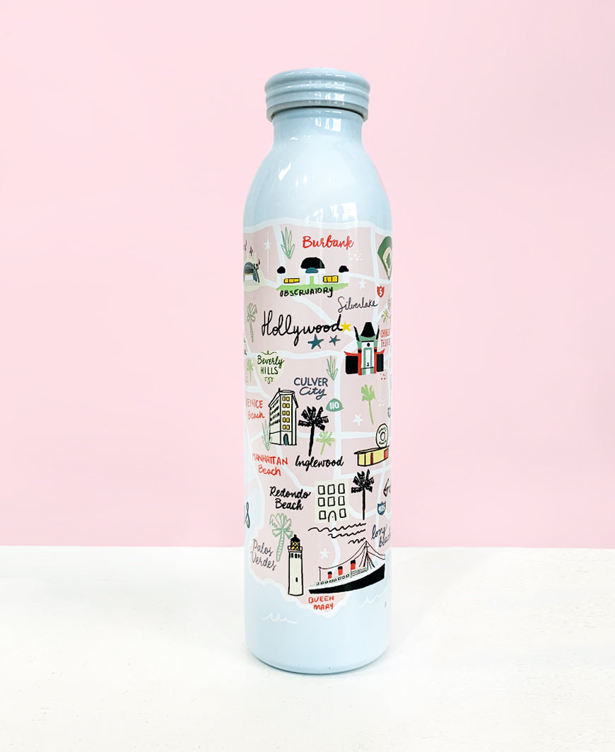 LA Map Water Bottle (36624)