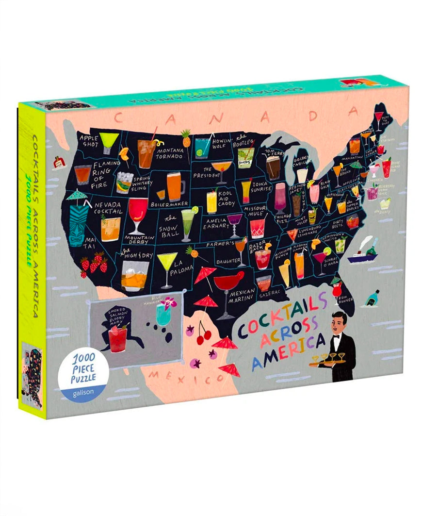 Cocktails Across America 1000 Piece Puzzle