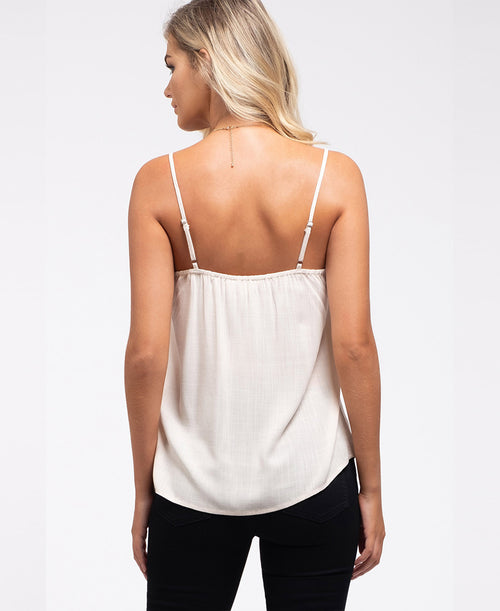 Cream Ruffle Detail Cami Top (CA1004)