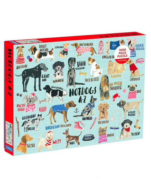 Cool Dogs A-Z 1000 Piece Puzzle