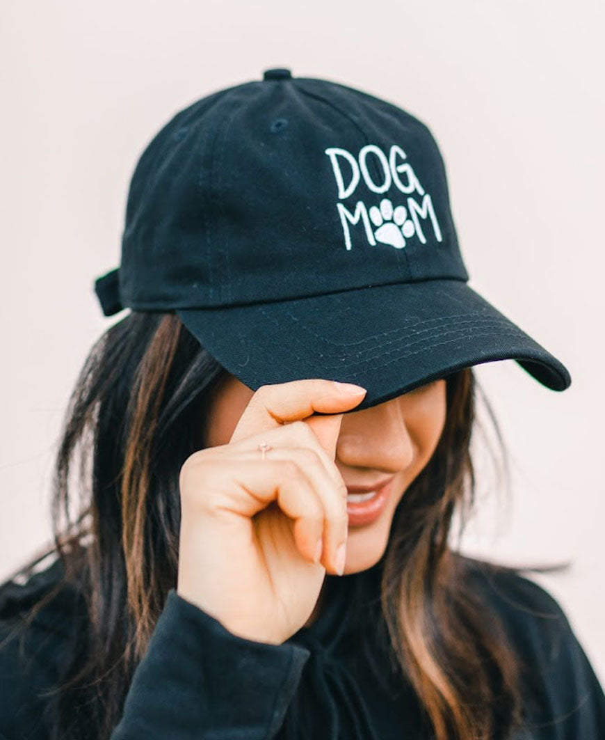 Black Dog Mom Baseball Hat