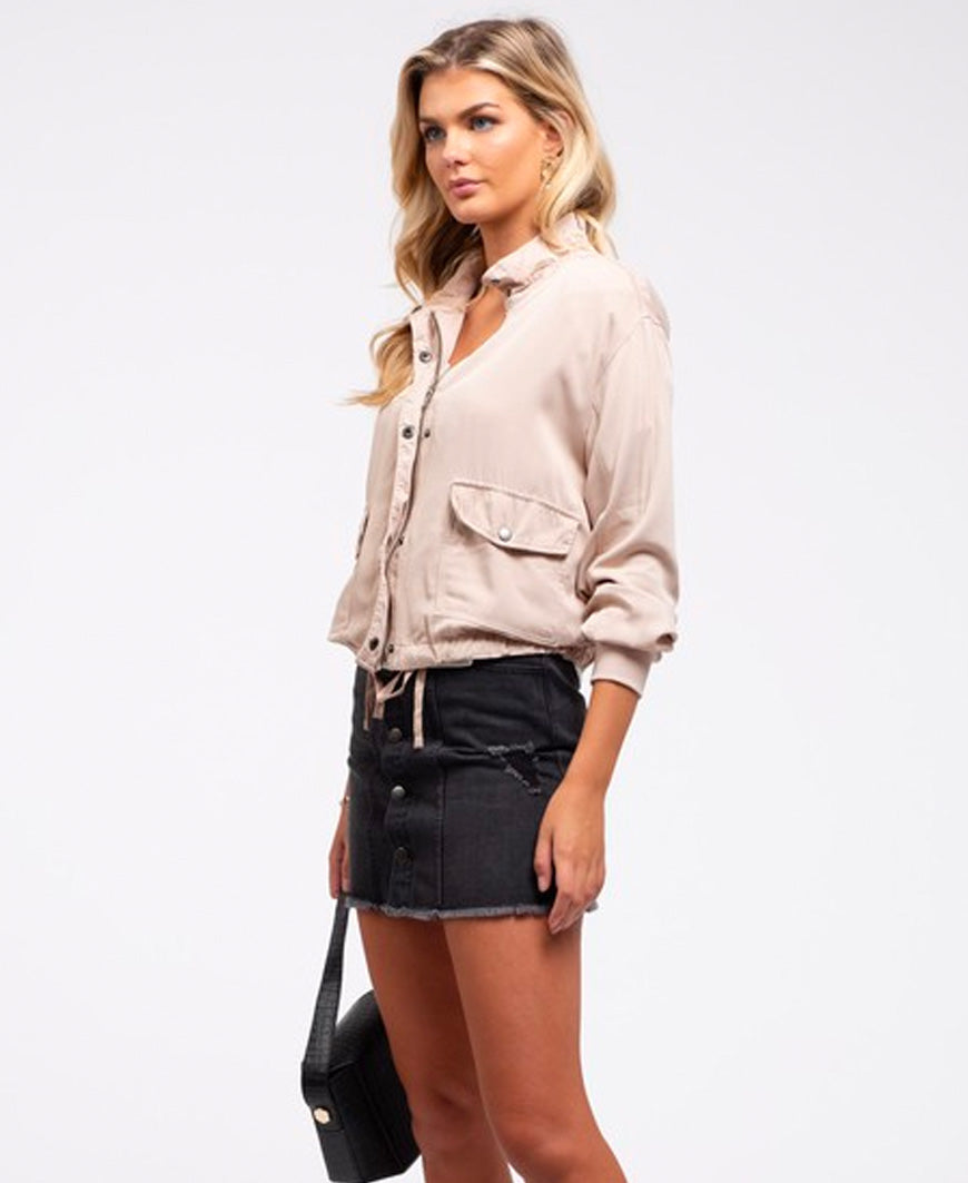 Cream Lightweight Jacket (EM5717)