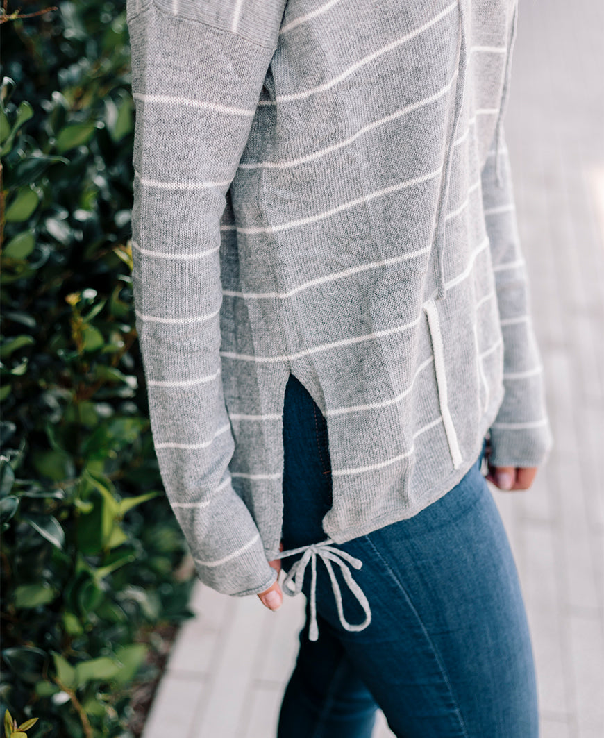 Striped Pullover Hoodie Sweater