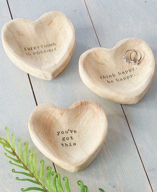 Everything Is Possible Wood Trinket Tray