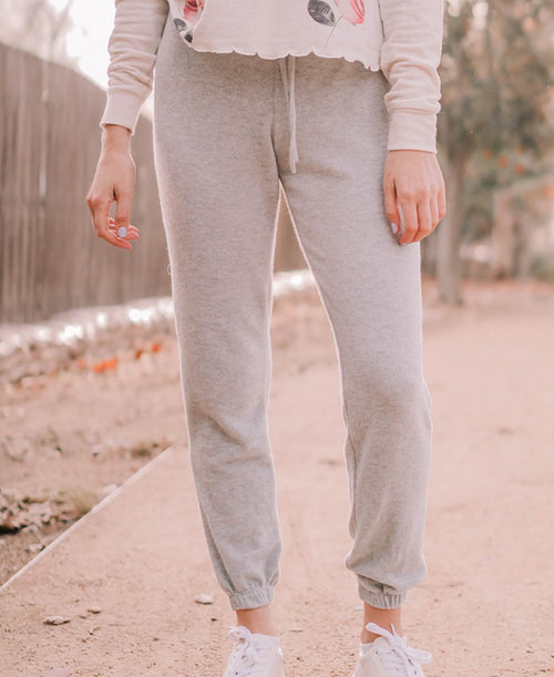 Grey Fleece Jogger Pants