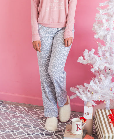 Pink Cat Fleece PJ Pants