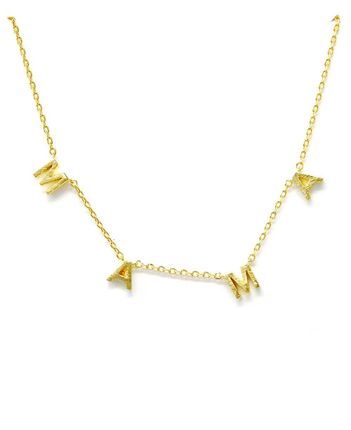 Mama 18K Gold Necklace