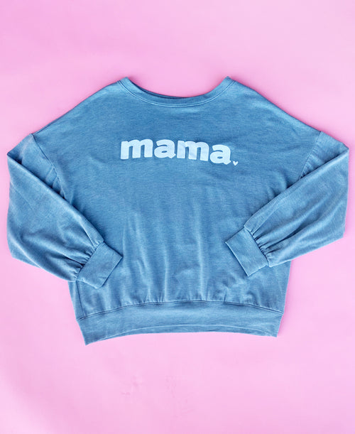 Light Aqua Mama Sweatshirt Top