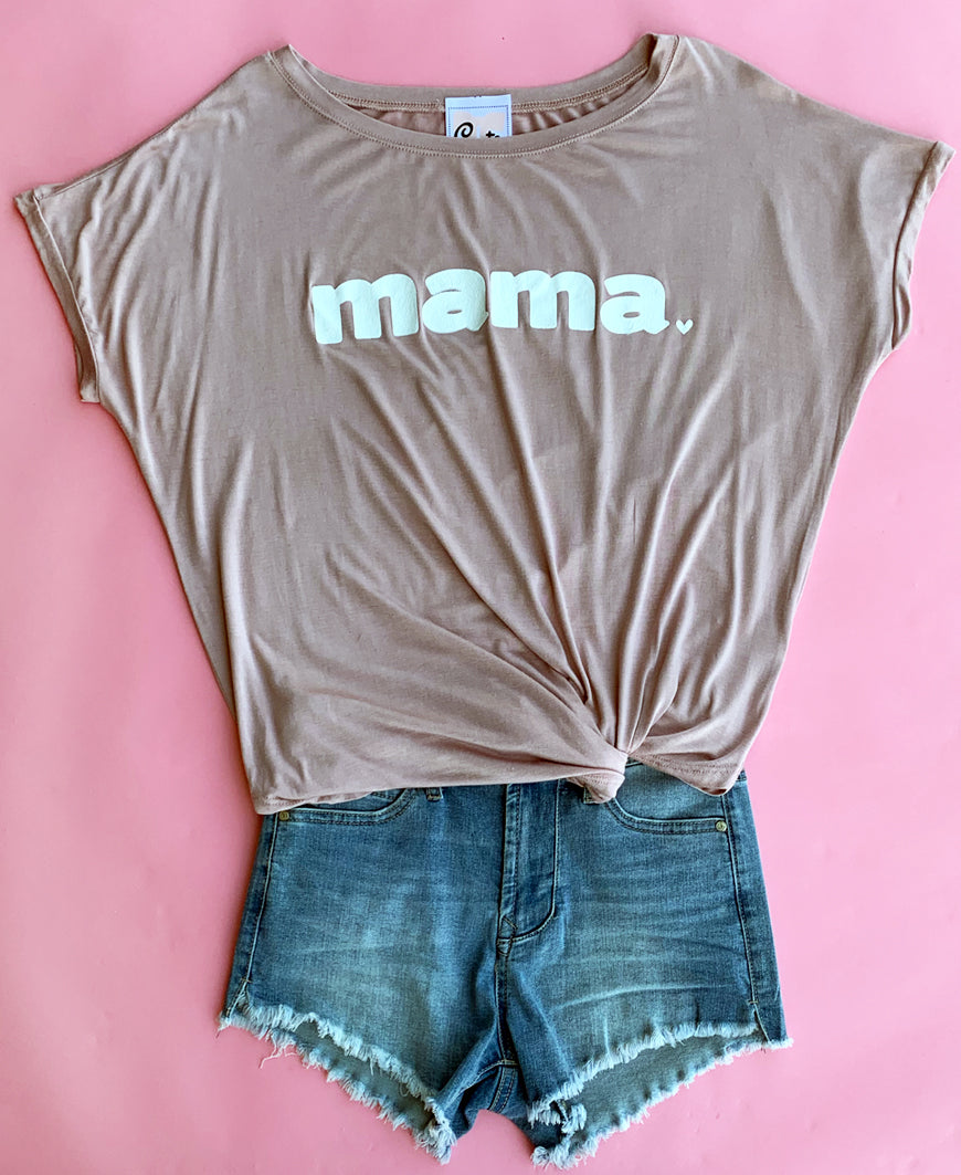 Dusty Mauve Mama Graphic Top