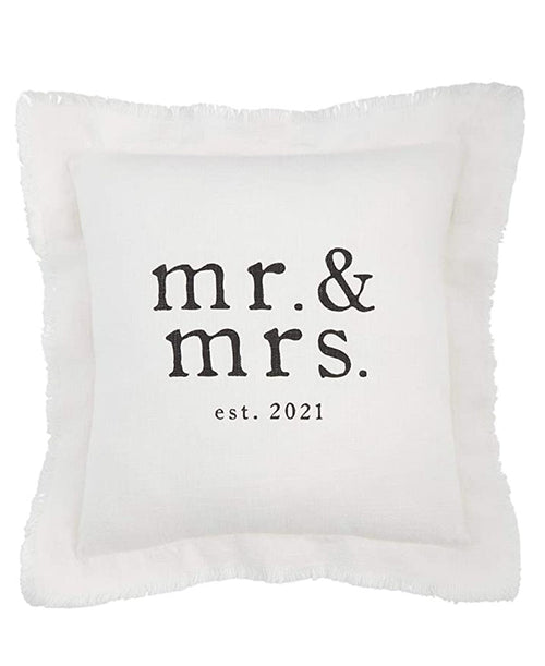 Mr & Mrs Est 2021 Pillow
