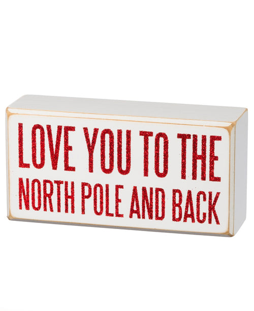 North Pole and Back Box Sign (35194)