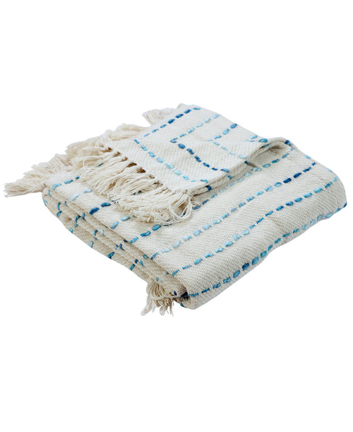Interwoven Oceanic Throw Blanket