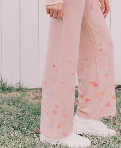 Fleece Heart PJ Pants