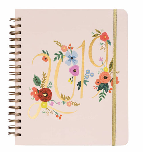 2019 Bouquet Large Spiral Planner by Rifle Paper Co.