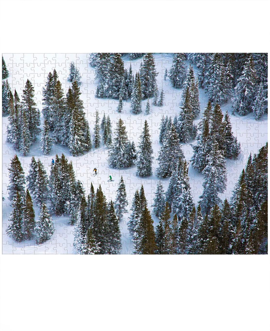 Winter Wonderland Gray Malin 500 Piece Double Sided Puzzle
