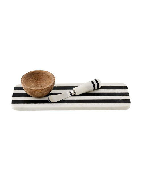 Striped Marble Tray & Dip Set