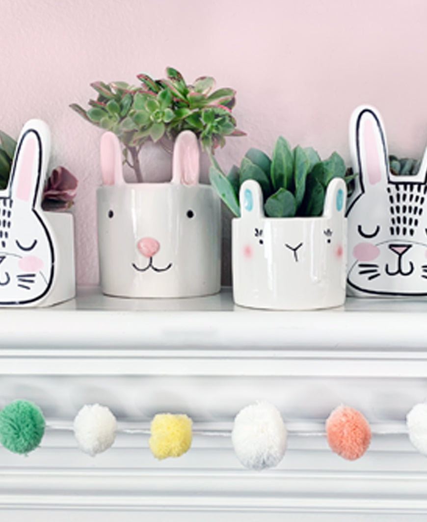Ceramic Bunny Pot (A4311-L-S)