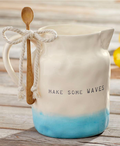 Waves Ombre Pitcher & Spoon
