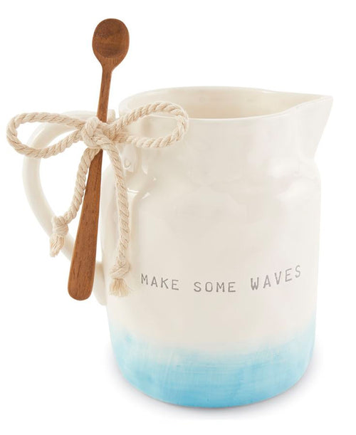 Waves Ombre Pitcher & Spoon (CURBSIDE PICK UP)