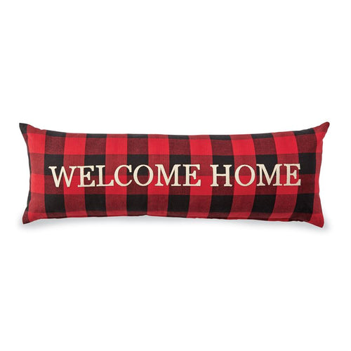 Plaid Welcome Home Pillow