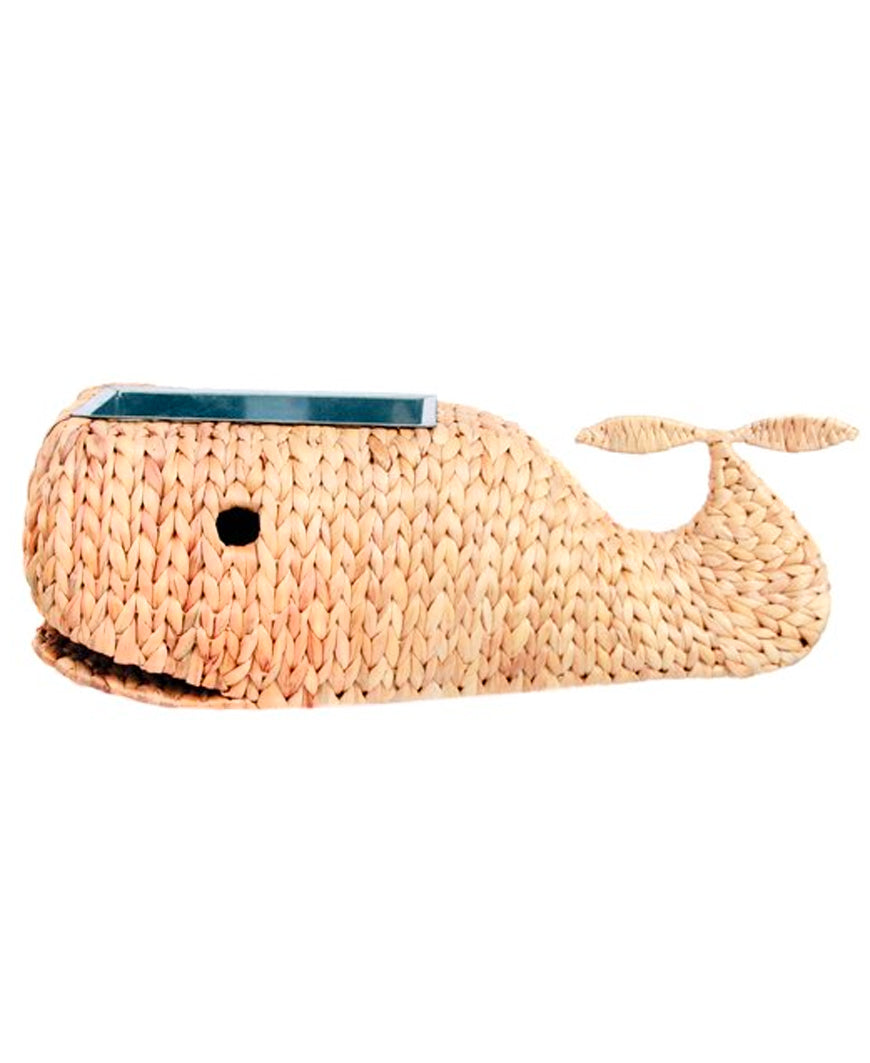 Large Woven Whale Planter