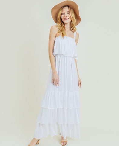 White Crochet Top Midi Dress (DSD-21912A)