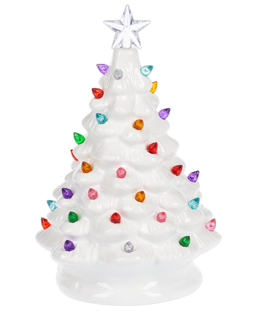 White Retro Light-Up Tree (MX171744)