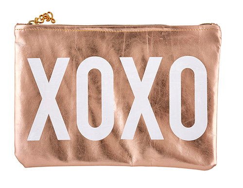 XOXO Rose Gold Pouch