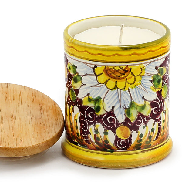 Jar Cup Candle with lid - Rubino Toscana Design [#CN03-RUB]