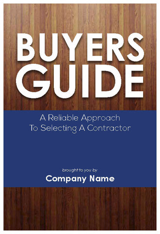 Selecting A Contractor Buyer's Guide