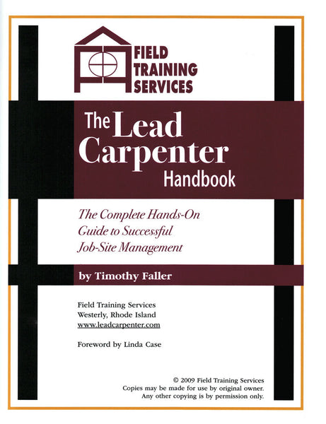 Lead Carpenter Handbook